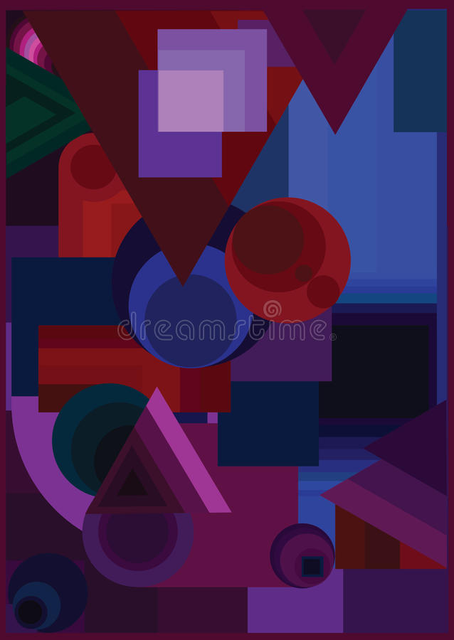 Shapes colors abstract royalty free stock photos