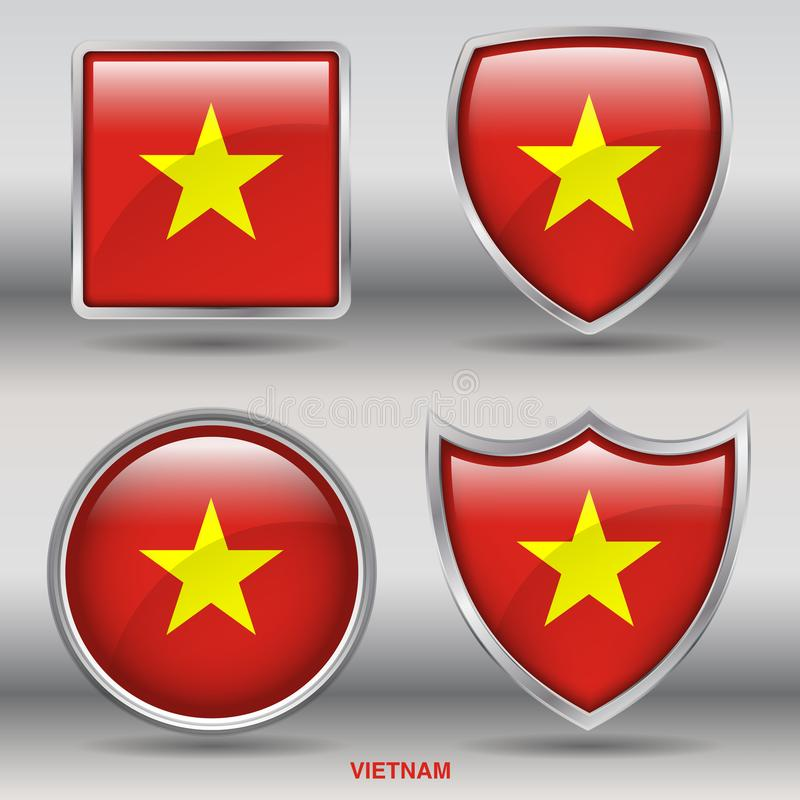 Vietnam Flag stock photos