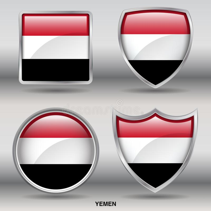 Yemen Flag royalty free stock image