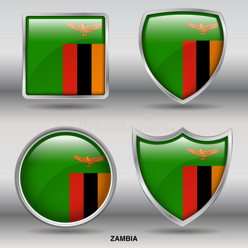 Zambia Flag stock images