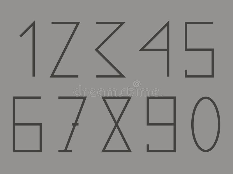 Shapes numbers one two three four five seven seven eight nine zero . vector illustration stock photo