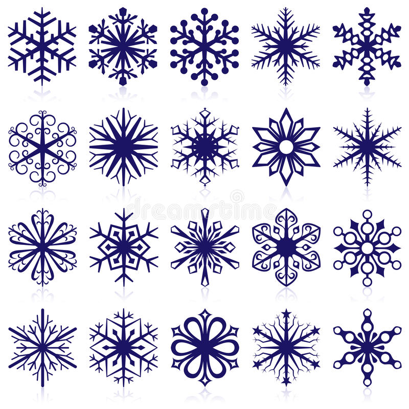 shapes snowflaken stock illustrationer