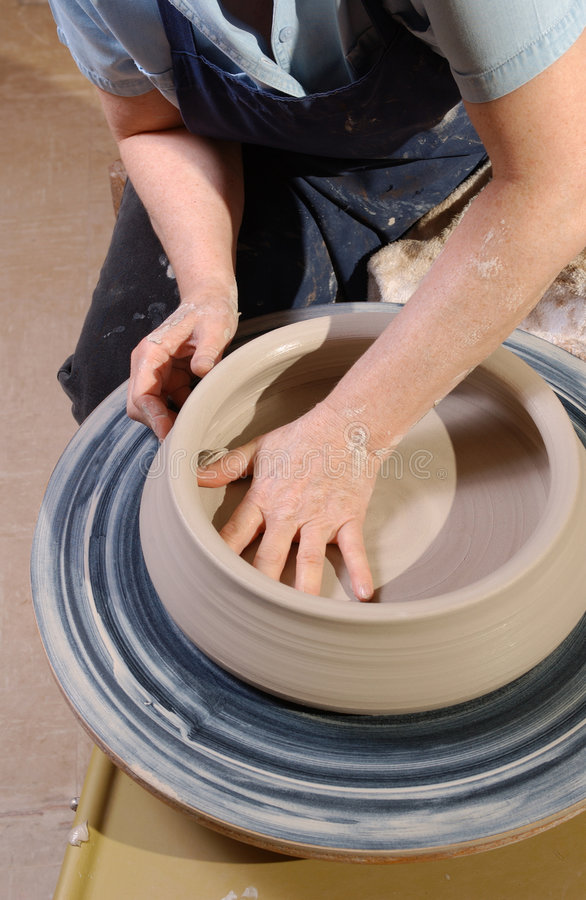 Download Shaping pottery stock photo. Image of wheel, clay, close - 468928