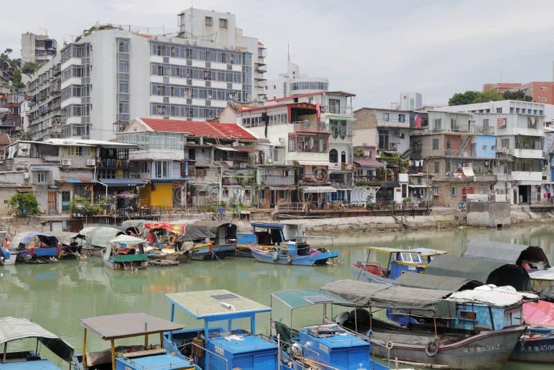 Shapowei beskyddade skeppsdockan av den amoy staden, porslin arkivbild