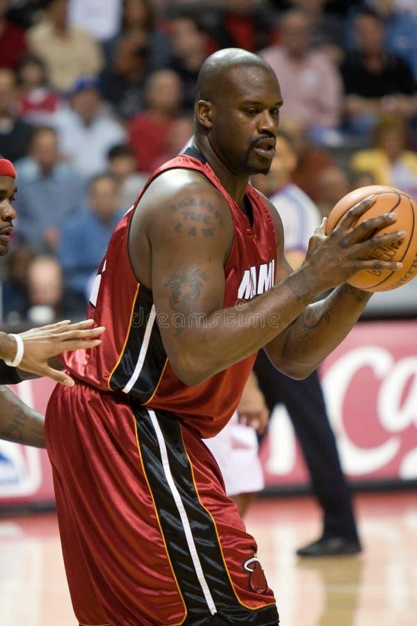 Shaquille O'Neal del Miami Heat fotografia stock
