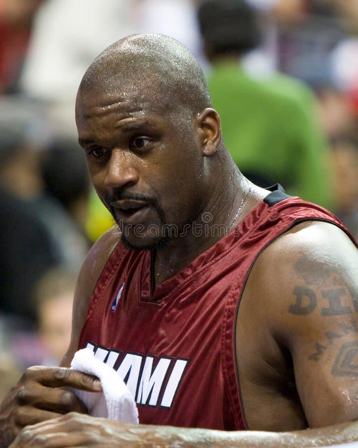 Shaquille O'Neal du Heat de Miami de la fin  image libre de droits