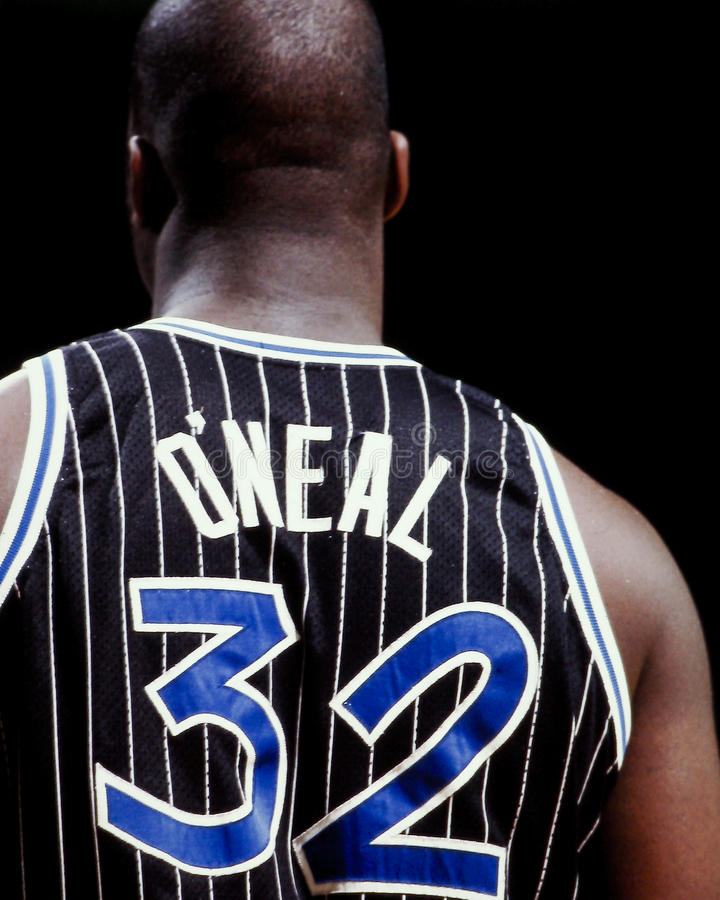 Shaquille O'Neal, Orlando Magic stock afbeelding