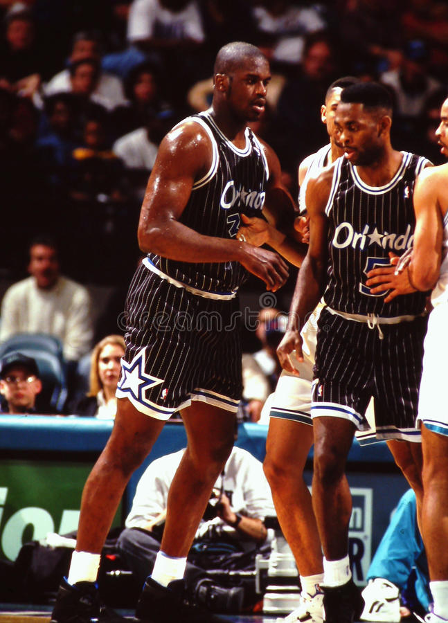 Shaquille O'Neal, Orlando Magic image libre de droits