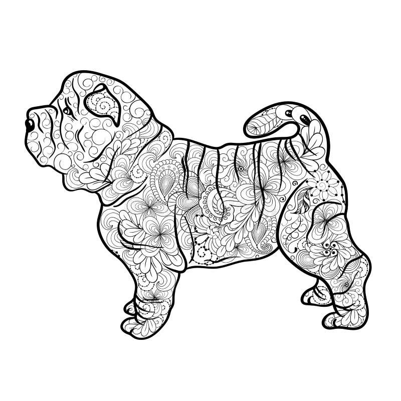 Shar Pei Dog Doodle libre illustration