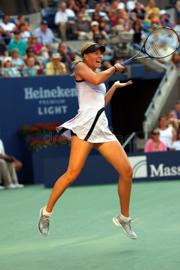 Sharapova Maria at US Open 2007 (27) stock photos