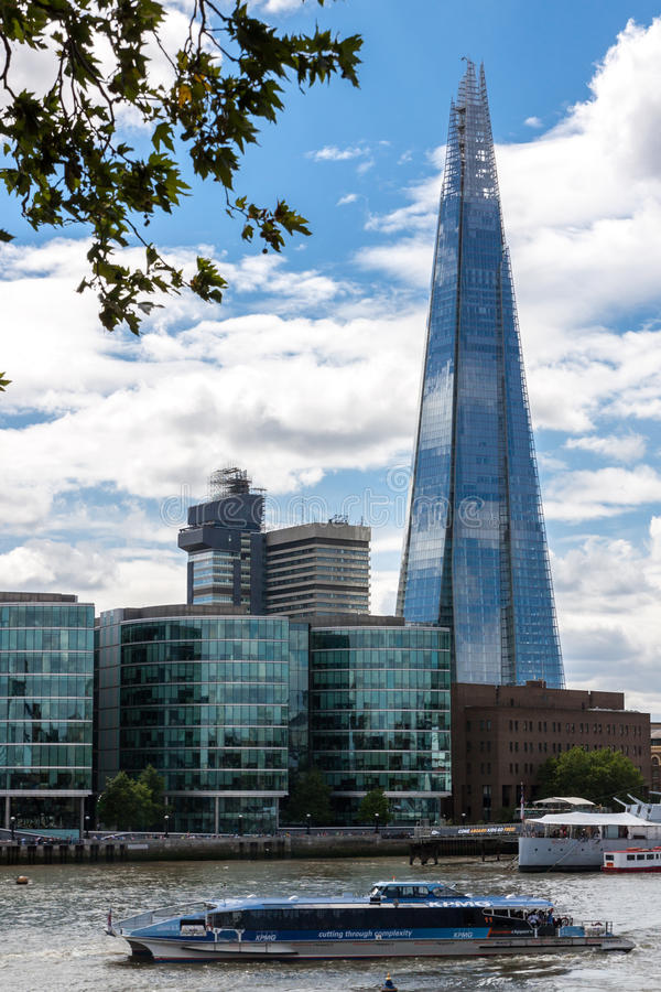 The Shard in London stock images