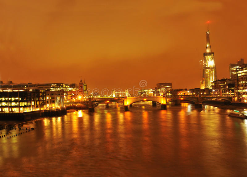 Shard London Bridge by night stock image
