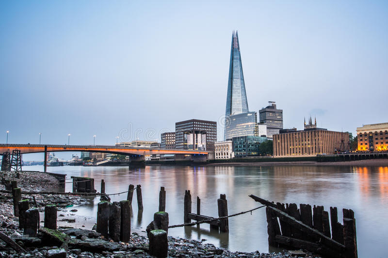 The Shard in London. The Shard and other office buildings on the Thames in London, UK stock photography