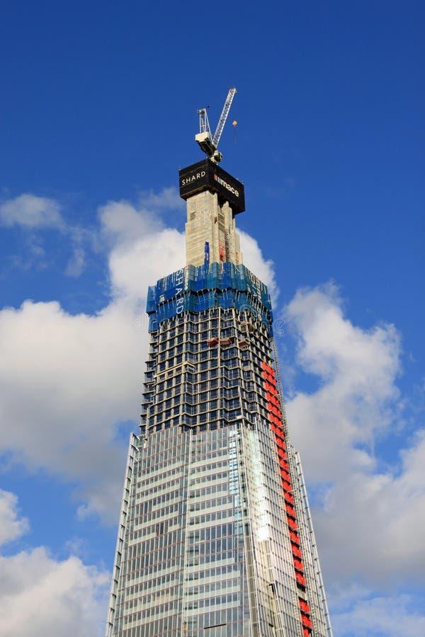 The Shard, London - skyscraper under construction.