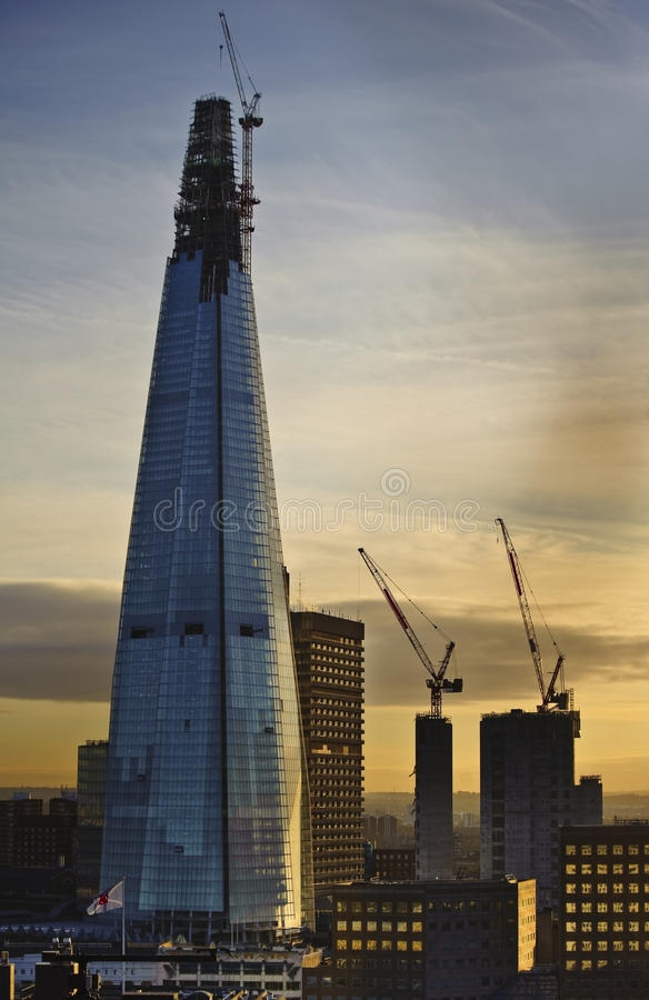 Download The Shard In London Undergoing Construction Stock Image - Image of high, captial: 23410077