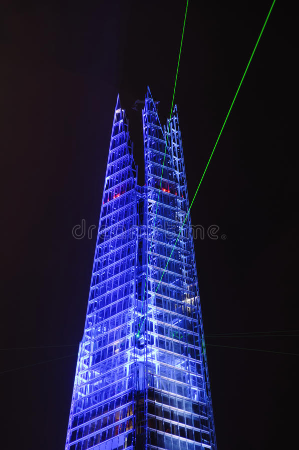 Download The Shard opening, London editorial image. Image of colorful - 25582400
