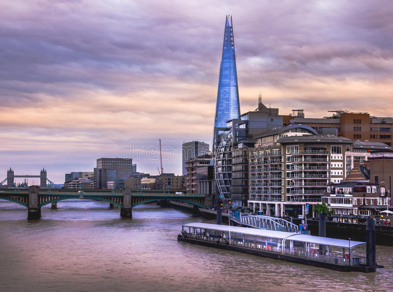 The Shard and Thames River stock photography