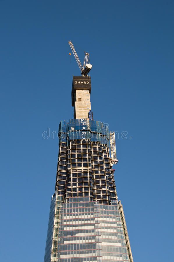 Download The Shard Under Construction Editorial Image - Image: 20107535