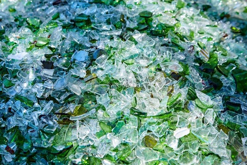 Shards of broken glass bottles royalty free stock images