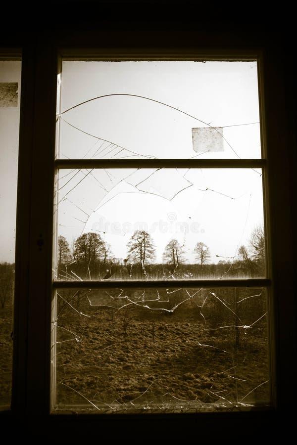A Broken window stock image