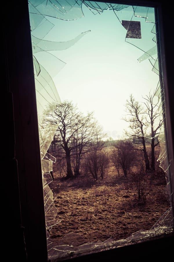 A Broken window stock photos