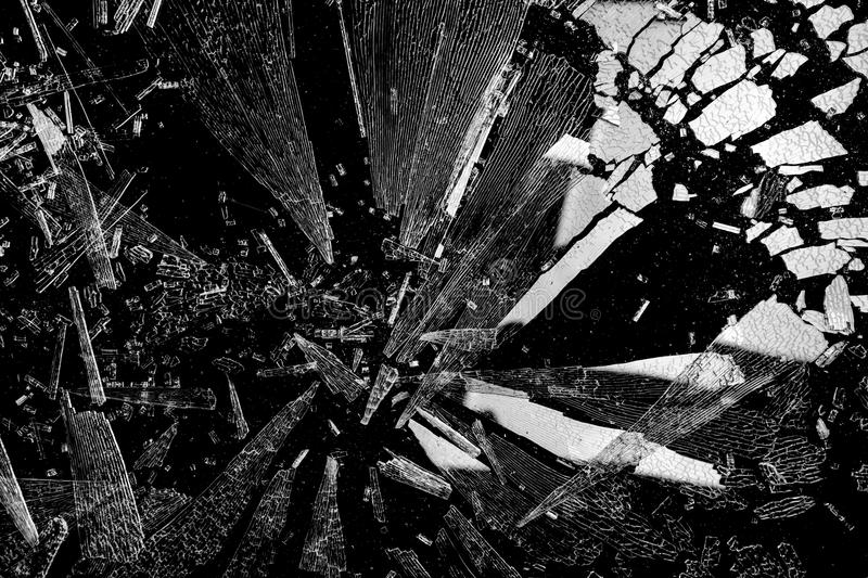 Shards of shattered glass stock photos