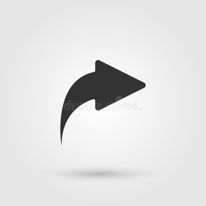 Share arrow icon vector, solid illustration, pictogram isolated on gray. Share arrow icon vector, solid illustration, pictogram isolated on gray royalty free illustration
