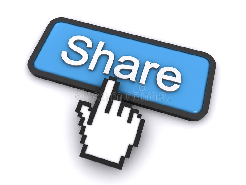 Download Share button stock illustration. Image of cursor, social - 23176379