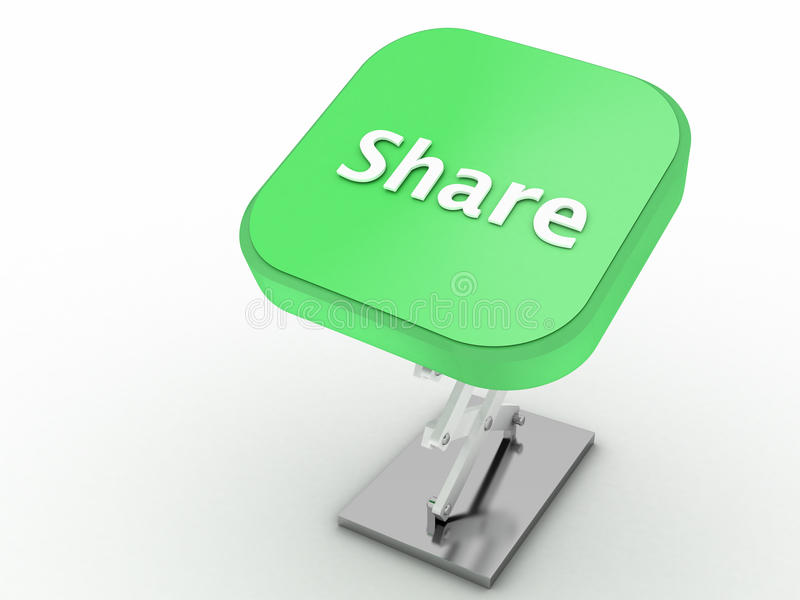 Download Share Button stock illustration. Image of technology - 24881384