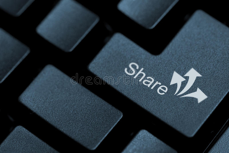 Share Button Stock Image Image Of Concept Interaction 68484067