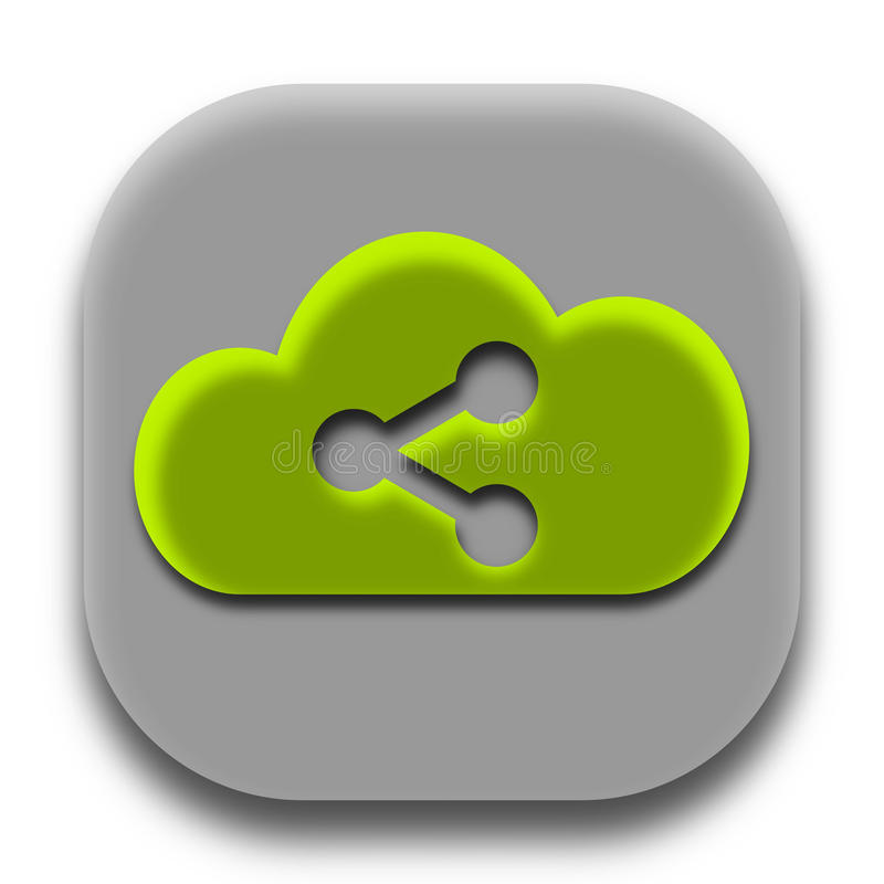 Share Cloud App Logo Vector Image royalty free stock image