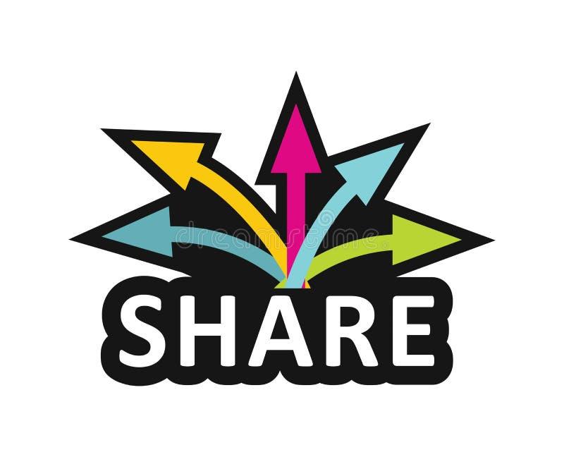 Share, Communication concept royalty free illustration