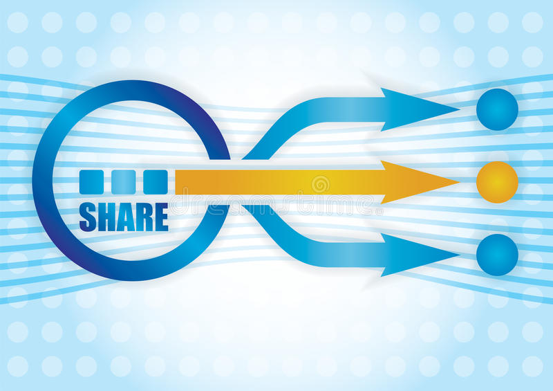 Share concept. royalty free illustration