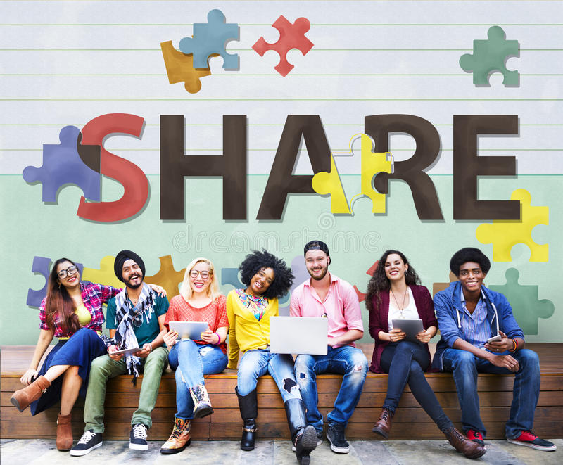 Share Distribution Exchange Communication Connection Concept royalty free stock image
