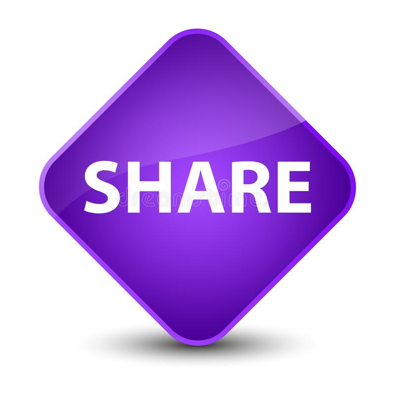 Share elegant purple diamond button vector illustration