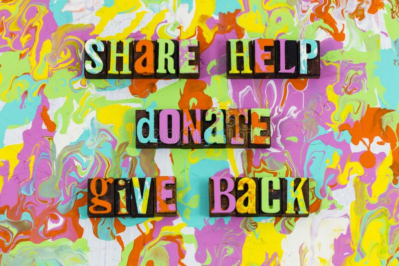 Share help donate give back royalty free illustration