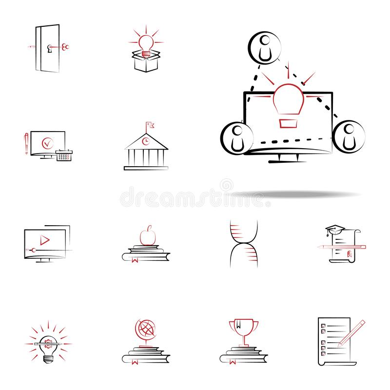 Share ideas icon. Education icons universal set for web and mobile. On white background royalty free illustration