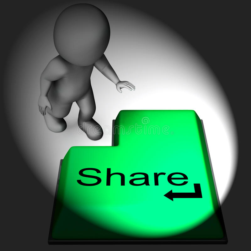 Share Keyboard Means Posting Or Recommending On Web stock illustration