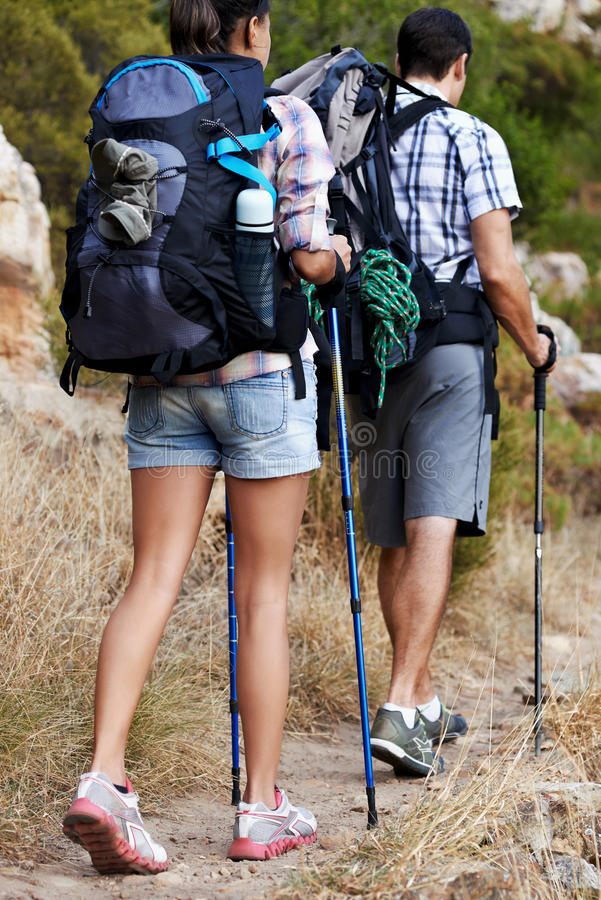 They share a love for the great outdoors stock photography