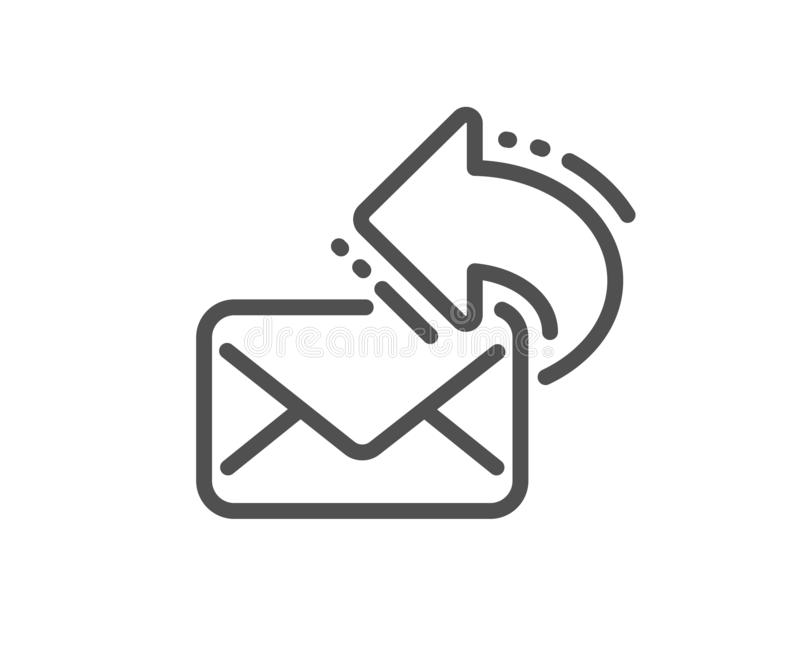 Share mail line icon. New newsletter sign. Vector. Share mail line icon. New newsletter sign. Phone E-mail symbol. Quality design flat app element. Editable stock illustration