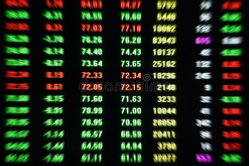 Share market stock market trading price data screen stock photo