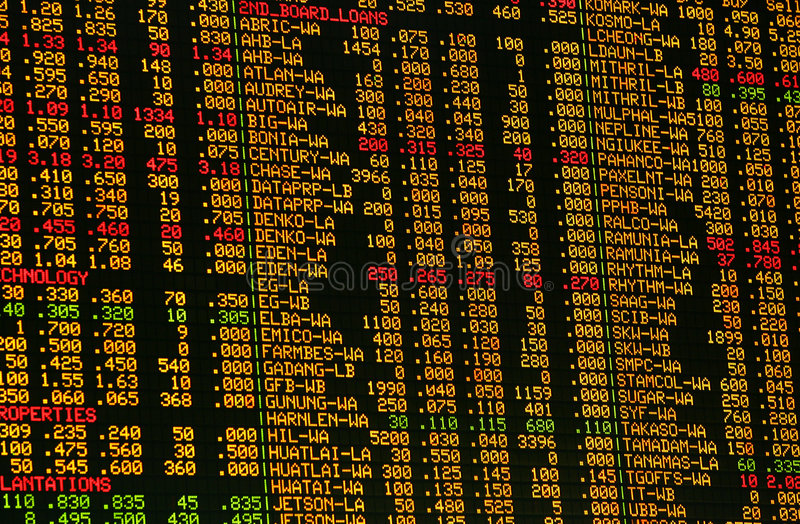 Download Share prices editorial stock image. Image of invest, closeup - 1077709