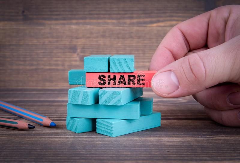 Share, Social Media and Business Concept royalty free stock photography
