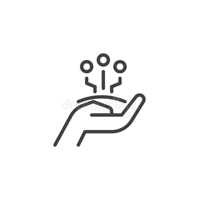 Share technology outline icon royalty free illustration