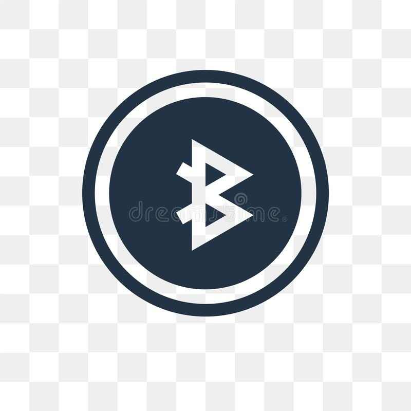 Share vector icon isolated on transparent background, Share tra royalty free illustration