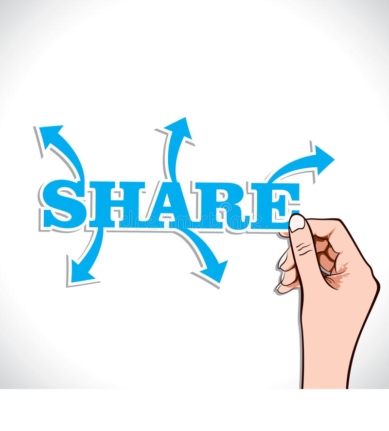 Download Share Word With Arrow In Hand Stock Vector - Image: 28229753