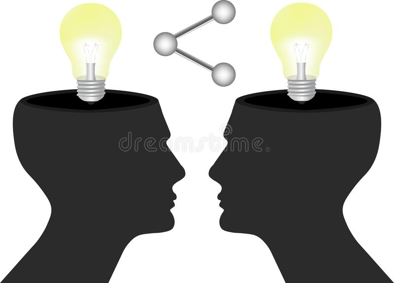 Share your ideas and knowledge with humans concept vector illustration