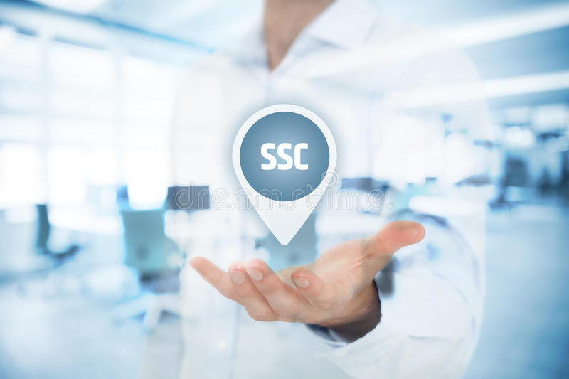 Shared services center SSC stock image