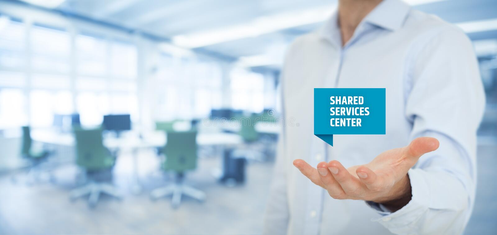 Shared services center royalty free stock image