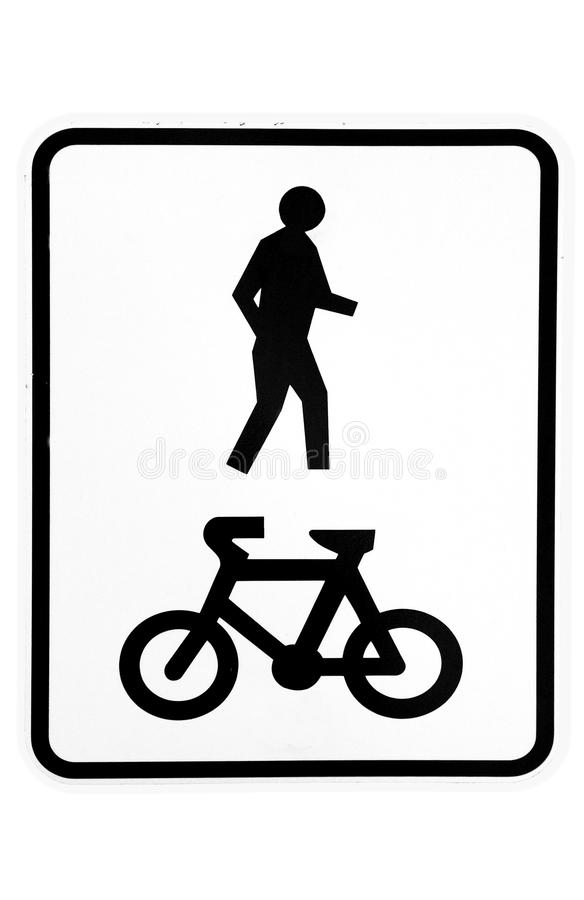 Download Shared walkway sign stock image. Image of share, info - 17277483